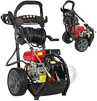 Petrol Pressure Washer Jet Washer Highest Powered for Duty Cleaning Jobs, 7.0HP Gasoline Engine, with LB-P150 Aluminum PumpThermal Relief Valve12 Inch Solide Wheels20 Meters High Pressure Hose dljyy from dljxx