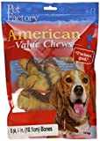 Pet Factory American Beef Hide Chicken Flavored Bones Chews For Dogs (8 Pack), Small/4-5'