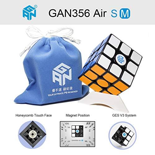 OJIN Ganspuzzle GAN356 X Numerico IPG Speed Cube 3x3 Gan 356 X Magic Cube Puzzle con Una Borsa cubo e Un cubo treppiede Nero