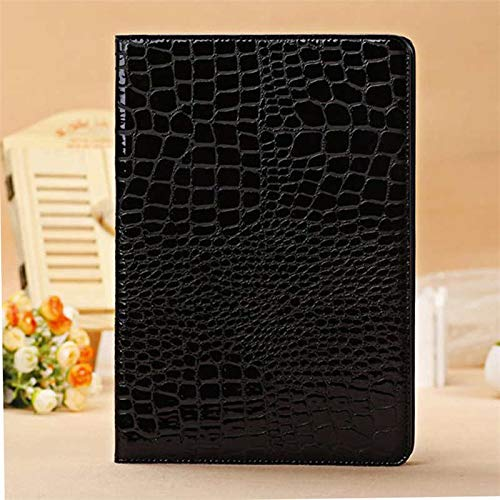 QiuKui Cases For iPad Air 1 Air1 9.7'', Luxury Flip Cover Case Luxury Crocodile PU Leather Folio Stand Case For iPad Air 1 A1474 A1475 (Color : Black)
