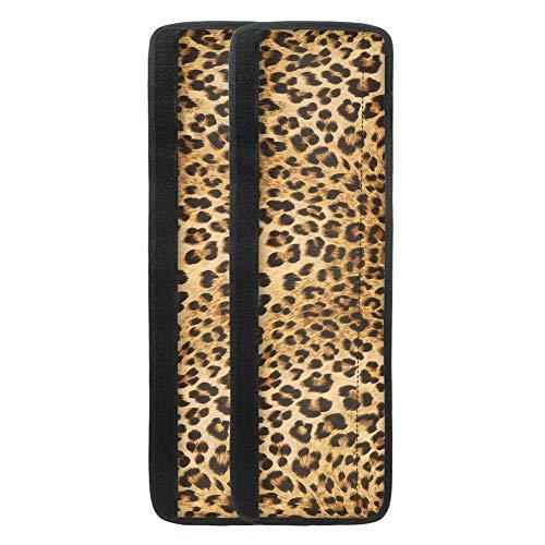 TOADDMOS Juego de 2 fundas para manija de puerta de frigorífico, diseño de leopardo, diseño de leopardo, para frigorífico, microondas, horno, lavavajillas