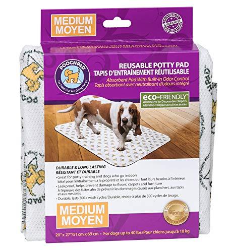 PoochPad Original Reusable Potty Pad, Medium 3-Pack (20x27 inches)