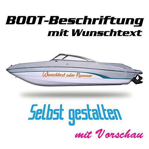 Bootsnamen - Aufkleber Beschriftung für Boote Schiffe Yachten Jetski 1 Set beinhaltet 2 Stück!