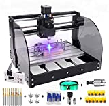2-in-1 7000 mW CNC 3018 Pro-M CNC Engraving Machine GRBL Control Router Kit 3 Axis PCB Milling Machine Wood Router Engraver with Offline Controller,XYZ Working Area 300 x 180 x 45mm