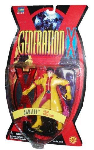 UBILEE * Plasma Hurling Action * 1995 Marvel Comics Generation X Series Action Figure & Gen-X Display Base by Toy Biz