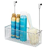 mDesign Estante colgante para utensilios de baño – Prácticas repisas para...