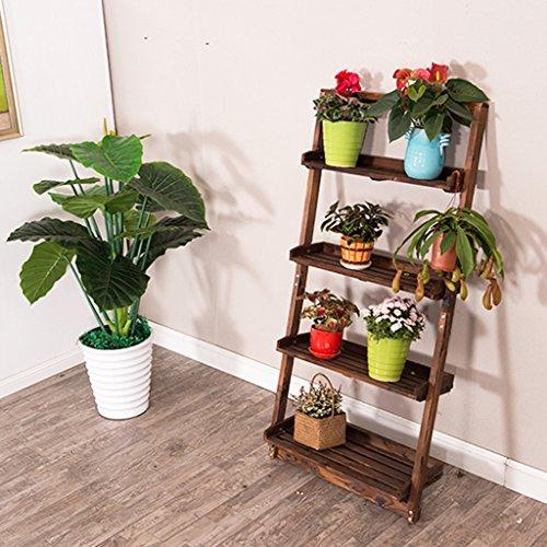 Porte-fleurs Porte-fleurs trapézoïdaux EuropeanFour, supports à fleurs créatives, étagères à fleurs en bois massif multi-mur intérieur, étagères en pot de mur de salon Support de fleurs