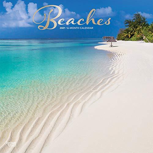 Beaches - Strände 2021 - 16-Monatskalender: Original BrownTrout-Kalender [Mehrsprachig] [Kalender]