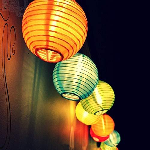 Topfashion+ LED Solar Lichterkette Lampions Wasserdicht 20er LED Lampions Laterne Lichterkette Garten Innen und Außenbereich 5 M für Party Weihnachten. Mehrfarbig