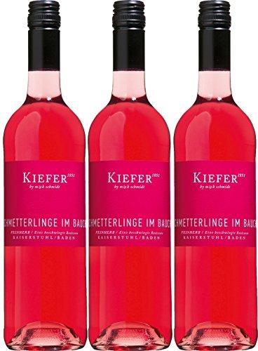 Schmetterlinge im Bauch - Kiefer - rosé - feinherb - 12,4%vol. - 3er Paket
