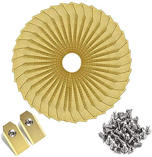 UAAA Paquete de 30 cuchillas de titanio para robot de césped Gold Silver Lawn Mover hoja de repuesto para Gardena Husqvarna Automower yardforce Herramientas de jardín