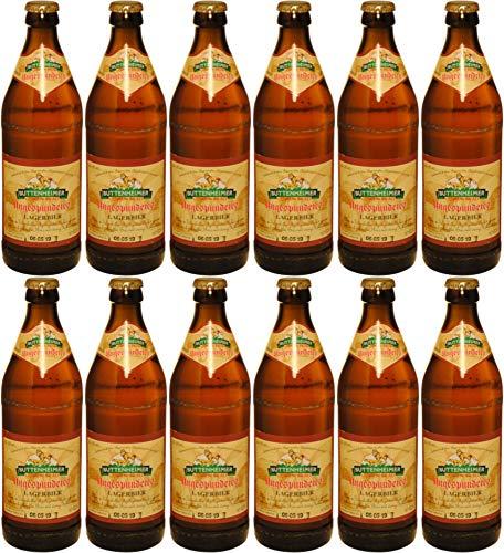 Löwenbräu Buttenheim - ungespundetes Lagerbier (12 Flaschen) I Bierpaket von Bierwohl