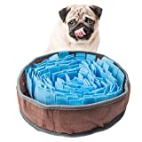 AIPINQI Dog Snuffle Mats, Funny Furable Pets Playing Mats Nose Work Trainning Pad Non Slip Stress Release Blanket for Dogs, 30cm Blue
