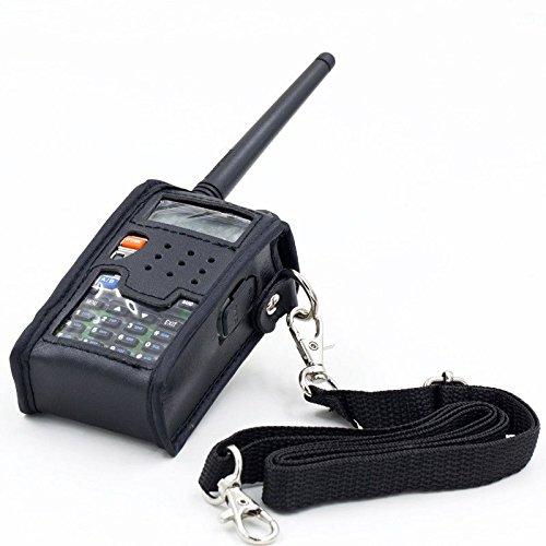REFURBISHHOUSE Cubierta Funda Suave de Cuero de Walkie Talkie para BAOFENG UV 5R Radio de Vapor portatil UV-5R UV-5RA Plus UV-5RE Plus UV-5RB Ronson UV-8R