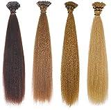Dibiase - Extension di cheratina in capelli naturali 100% Remy lisci, confezione da 20 pezzi Largo 60-65 cm 4