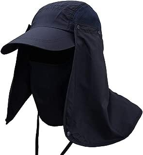 Weixinbuy Outdoor Hiking Fishing Hat Protection Cover Neck Face Flap Sun Cap for Men Women