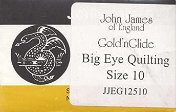 Gold'n Glide Big Eye Quilting Needles -Size 10 10/Pkg