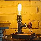 Vintage retrò personalità creativa tubo dell'acqua lampada bar caffetteria decorazione lampada camera da letto dimmerabile Edison piccola luce notturna@Handwheel_switch_UK_Plug