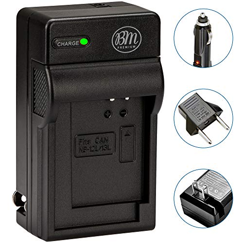 BM Premium NB-13L Battery Charger for Canon PowerShot SX740 HS, G1 X Mark III, G5 X, G5 X Mark II, G7 X, G7 X Mark II, G7 X Mark III, G9 X, G9 X Mark II, SX620 HS, SX720 HS Cameras