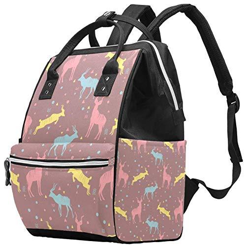 Mochila multifunción grande para pañales de bebé, diseño Kudu, bolsa de pañales de viaje, para mamá y papá