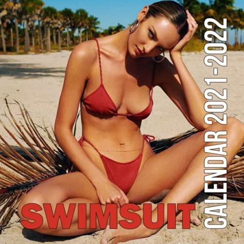 Swimsuit Calendar 2022: Bikini girl October 2021 - December 2022 Squared Monthly Calendar Mini Planner with Sexy Girl Photos