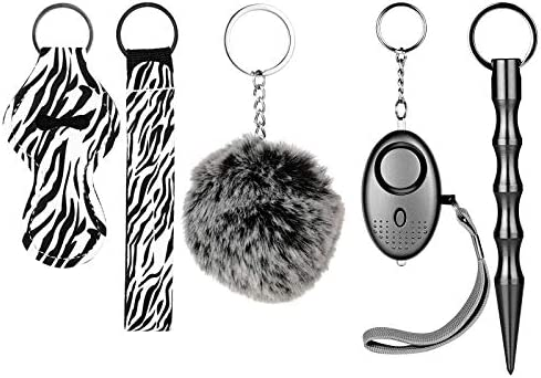 Self Defense Keychains Kit for Women with Personal Safety Alarm Kubaton Self Defense Tool Pom product image