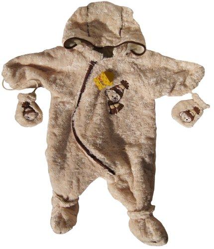Sunkid Baby Plüsch Overall Wagenanzug Teddybär Beige ca.: 80cm mit Kapuze, Handschuhchen und Schuhchen