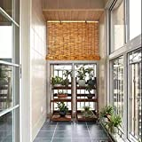 YANYAN Enrollable De Bambú Persianas De Caña Baratas Natural Persiana Enrollable De Bambú Marrón Medidas De Estores De Bambú 90x200cm Decoración De Habitación/52 Tamaños/con Accesorios