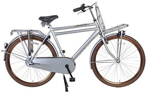 POPAL 28 Zoll Herren Hollandrad Daily Dutch Basic+ 2810 3 Gang, Farbe:grau, Rahmengröße:57 cm