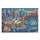 Mentmate Store 1000 piezas DIY puzzle de la casa de ópera en Sydney, desarrollar la imaginación, juego divertido de rompecabezas 3D para niños y adultos, entretenimiento blanco 200 piezas