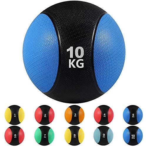 arteesol Medizinball mit Griff, 3/4/5/6/7/8/9/10/24KG Medizinball, für Jede Trainingsroutine, Muskelaufbau, Cardio-Fitness, Kraft- und Erholungstraining, Mehr Kalorien Verbrennen