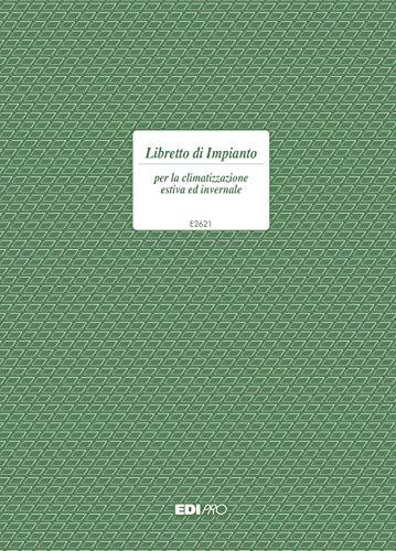EDIPRO - E2621 - Libretto di impianto per la climatizzazione 48 pagine f.to 29,7x21