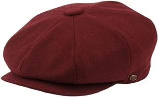 Men's Classic 8 Panel Wool Blend newsboy Snap Brim Collection Hat