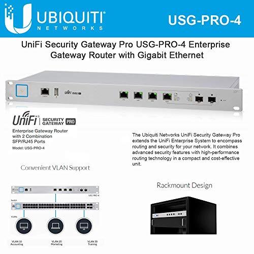 USG-PRO-4 UniFi Security Gateway Pro Enterprise Router Gigabit Ethernet 2 SFP/RJ-45 Ports