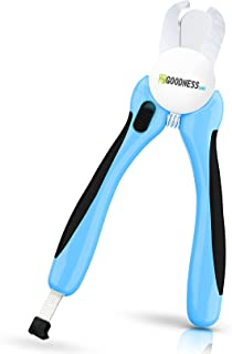 Dog Nail Clippers - Best Pet Claw Trimmer - Easy and Painless Pet Grooming (Puppies and Cats) - Medical Grade Stainless St...