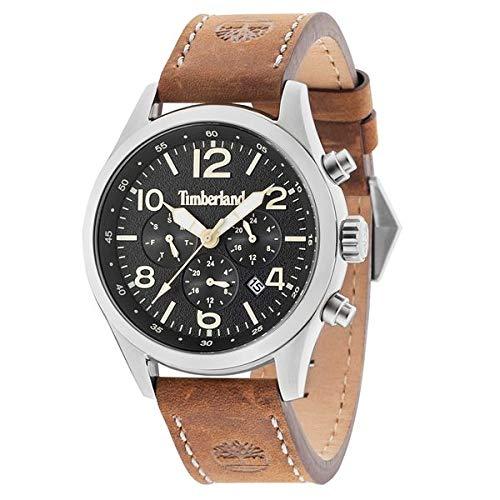 Timberland Reloj Analógico para Hombre de Cuarzo con Correa en Cuero TBL15249JS.02