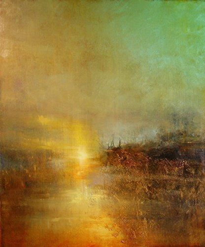 Sunset at Turners Cove von William Turner Moderne Gemälde Abstrakte Ölgemälde Kunst-Reproduktion Sonnenuntergang Gemälde Sonnenuntergang Kunst, 8.3 x 11.7 (A4)
