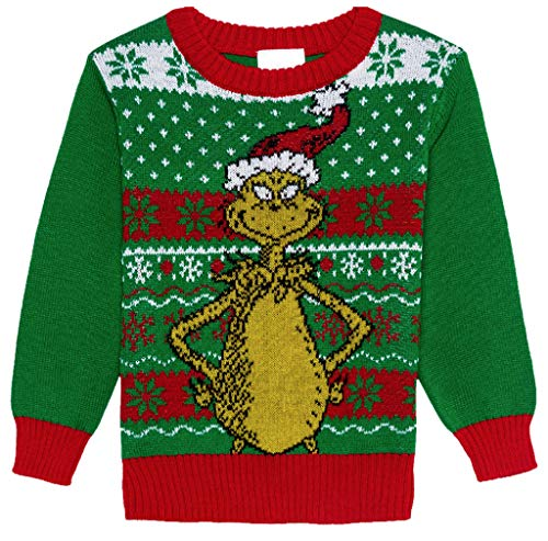 Toddler Dr Seuss The Grinch Christmas Sweater, Green (12 Months)