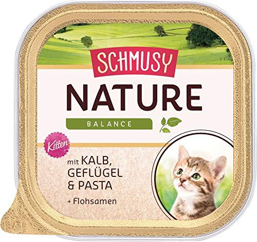 Schmusy mangime per Gatti Natures Menu per Kitten con Vitello 100G, Confezione da Pezzi (16X 100G)