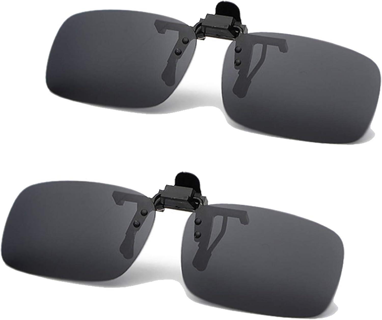 JEEDA Unisex-Sonnenbrille Rahmenlose Rechteckige Sonnenbrille Brillenfilter Starkes Licht f/ür Myopie 2er-Pack Randlose Anti-Glare-Nachtsichtlinse zum Hochklappen 100/% UVA//UVB-Schutz