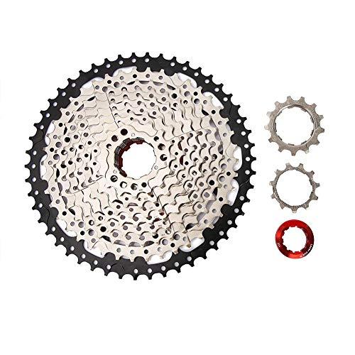 VGEBY Piñón de Rueda Libre de Bicicleta de 10 velocidades 11-50T, Equipo de reemplazo de Bicicleta de Herramienta de Desplazamiento de la Costa Ciclismo