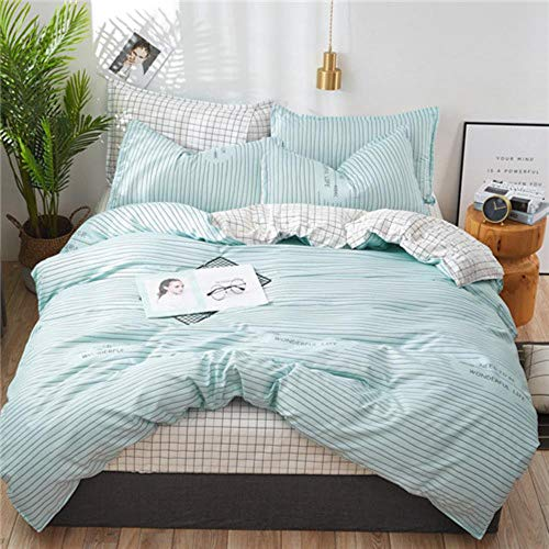 Lili Pastoral Style Bedding Set Winter Grey Blue Bed linens 3 or 4pcs/Set Duvet Cover Set Panda Bed Set Kids Bedclothes Queen Bedding,jianianhua,King
