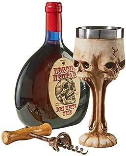 Design Toscano Gothic Scare Skull Goblet, Ancient Ivory