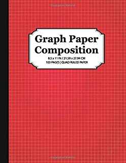 Graph Paper Composition Notebook: Quad Ruled 5x5  Grid Paper for Math and Science Students (8.5 x 11)
