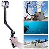 GoPro Waterproof Selfie Stick Tripod, LUOOV 3-in-One Extendable and Foldable Self Portrait Stick