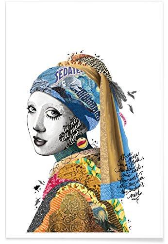 Juniqe® Affiche 20x30cm Pop Art - Design All Mad Here (Format : Portrait) - Poster, Tirages d'art & Tableaux par des Artistes indépendants créé par Nour Tohme