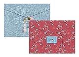 Miquelrius Jordi Labanda 16086 - Pack de 4 Sobres de Polipropileno Best Friends y Flowery