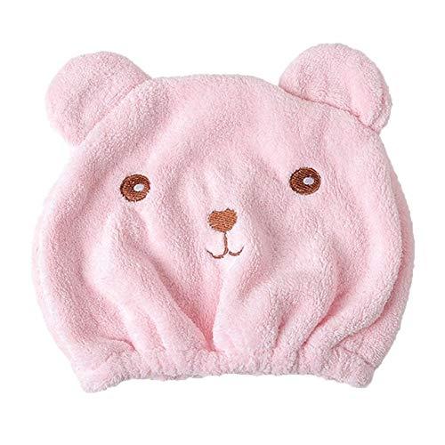 Heliansheng Gorro de algodón para Cabello seco, Toalla de baño de Secado rápido, Toalla de baño Absorbente de Microfibra -D Pink-D8