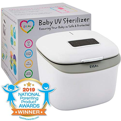 Bottle Sterilizer and Dryer | UV Baby Bottle Sanitiser | Hospital Strength Sterilizer Using UV Light | Sterilizes Anything in Minutes with No Cleaning Required | Touch Screen Control | FCC Approved