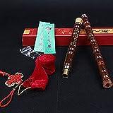 Jinchuan 竹製フルート 笛子 竹笛 横笛尺八 木管楽器 ミュージカル 伝統的な手作り (Eキー, したいろ)